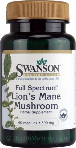 Swanson Full Spectrum Lions Mane Mushroom