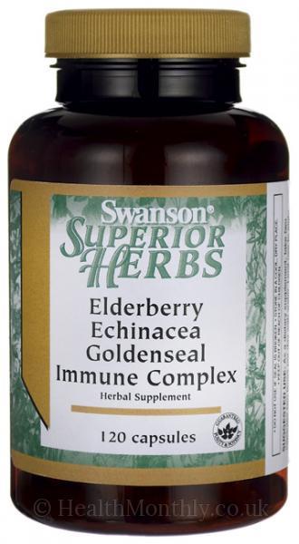 Swanson Herbs Elderberry, Echinacea & Goldseal Immune Complex